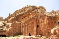 Militair Tomb in Petra, Jordanië stock fotografie