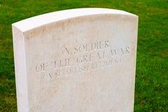 Militair van de grote oorlogsbedford huisbegraafplaats royalty-vrije stock afbeelding