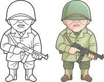 Militair van de Verenigde Staten van Amerika vector illustratie
