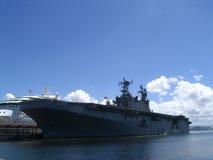 Militair vliegdekschip stock fotografie