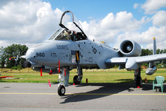 Militair vliegtuig a-10 Royalty-vrije Stock Foto