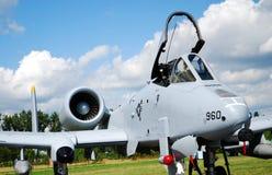 Militair vliegtuig a-10 Stock Foto's