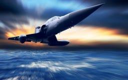 Militair vliegtuig stock illustratie