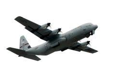 Militair vliegtuig c-130 Royalty-vrije Stock Foto