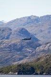 Militair Vliegtuig in Chileense Fijords Royalty-vrije Stock Afbeeldingen