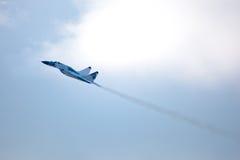 Militair vliegtuig su 27 Royalty-vrije Stock Foto's