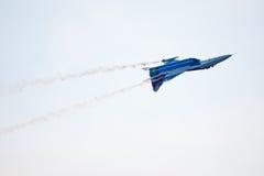 Militair vliegtuig su 27 Stock Afbeeldingen