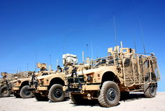 Militair voertuig stock foto