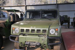 Militair voertuig stock afbeelding