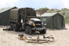 Militair voertuig Stock Foto's