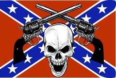 Militair wapenschild met schedel, grunge Ontwerpt-shirts royalty-vrije illustratie