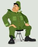 Militaire algemeen op stoel vector illustratie