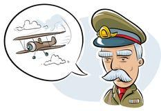 Militaire Ambtenaar stock illustratie