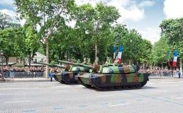 Militaire apparatuur bij een militaire parade Stock Foto