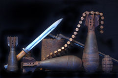 Militaire archeologie Stock Foto's