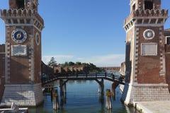 Militaire Arsenaalingang, 21 Juli, 2017 Venetië, Italië Stock Afbeelding