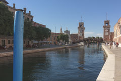 Militaire Arsenaalingang, 21 Juli, 2017 Venetië, Italië Royalty-vrije Stock Afbeelding