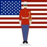 Militaire Band musicus-1 van de V.S. stock illustratie