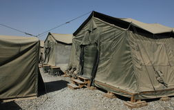 Militaire basis Afghanistan Stock Afbeelding