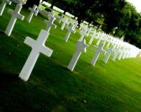 Militaire begraafplaats Royalty-vrije Stock Afbeeldingen