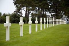 Militaire begraafplaats royalty-vrije stock foto