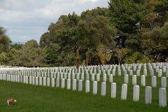 Militaire begraafplaats Stock Afbeelding