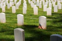 Militaire begraafplaats Stock Foto's