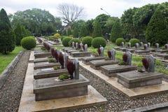 Militaire begraafplaats in Dien Bien Phu stock afbeelding