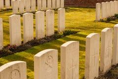 Militaire begraafplaats 1st wereldoorlog Vlaanderen Stock Foto