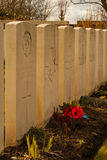 Militaire begraafplaats 1st wereldoorlog Vlaanderen Stock Fotografie