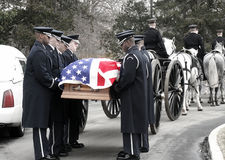 Militaire Begrafenis bij Arlington-Begraafplaats Royalty-vrije Stock Fotografie