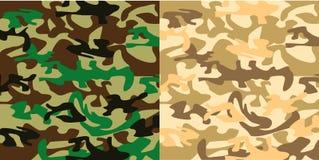 Militaire camouflagedoek Royalty-vrije Illustratie