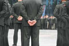 Militaire Ceremonie Royalty-vrije Stock Foto's