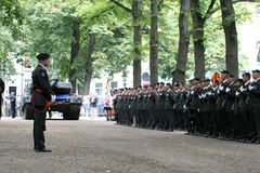 Militaire Ceremonie - Nederland stock foto
