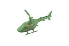 Militaire die helikopter op witte achtergrond wordt geïsoleerd Stock Fotografie