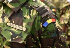 Militaire eenvormig van Roemenië Roemeens eenvormig leger Roemeense troepen royalty-vrije stock foto's