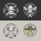 Militaire emblemen Stock Foto's