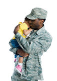 Militaire familie royalty-vrije stock fotografie