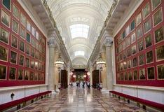 Militaire galerij met portretten van het Russische algemeen, deelnemers in de oorlog tegen Napoleon in 1812 Royalty-vrije Stock Fotografie