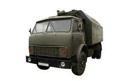Militaire geïsoleerdee vrachtwagen. Stock Afbeeldingen