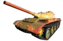 Militaire Geïsoleerder Tank Stock Fotografie