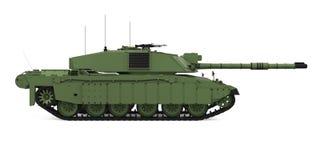Militaire Geïsoleerder Tank vector illustratie