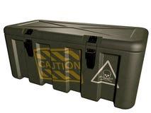 Militaire groene die doos met explosief op wit wordt geïsoleerd 3D Illustratie royalty-vrije illustratie