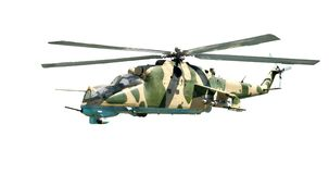 Militaire helikopter met camouflagekleuring Stock Foto's