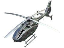 Militaire helikopter op witte achtergrond royalty-vrije illustratie