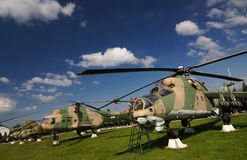 Militaire helikopters Stock Afbeelding