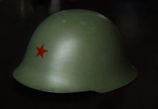 Militaire Helm JNA & x28; Yugoslavia& x29; Royalty-vrije Stock Foto's