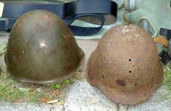 Militaire helmen Royalty-vrije Stock Afbeeldingen