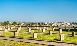 Militaire herdenkingsbegraafplaats op Mamayev Kurgan in Volgograd, Rusland royalty-vrije stock foto's