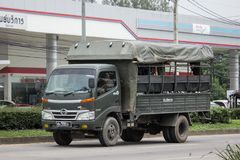Militaire Hino-vrachtwagen van Koninklijk Thais Leger Stock Fotografie